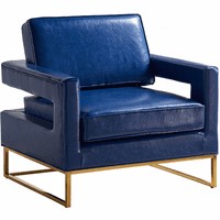 Meridian Furniture Amelia Faux Leather Accent Chair Navy