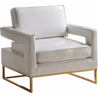 Meridian Furniture Amelia Faux Leather Accent Chair White