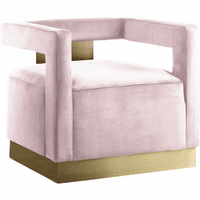 Meridian Furniture Armani Velvet Accent Chair Pink