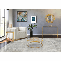 Meridian Furniture Butterfly Gold Foil End Table