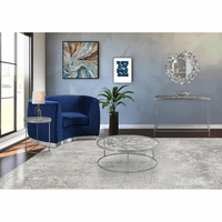 Meridian Furniture Butterfly Silver Foil End Table