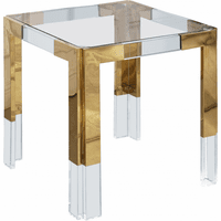 Meridian Furniture Casper Rich Gold Stainless Steel End Table