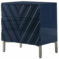 Meridian Furniture Collette Navy Blue Lacquer Side Table