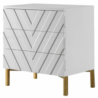 Meridian Furniture Collette White Lacquer Side Table