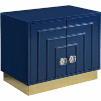 Meridian Furniture Cosmopolitan Side Table Navy Lacquer