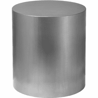Meridian Furniture Cylinder Brushed Chrome Metal Round End Table