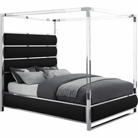 Meridian Furniture Encore Faux Leather Bed Black