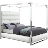 Meridian Furniture Encore Faux Leather Bed White