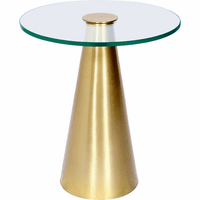 Meridian Furniture Glassimo Brushed Gold End Table