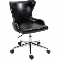 Meridian Furniture Hendrix Faux Leather Deep Button Tufting Office Chair Black
