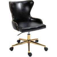 Meridian Furniture Hendrix Faux Leather Office Chair Black