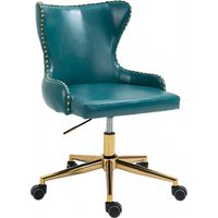 Meridian Furniture Hendrix Faux Leather Office Chair Blue
