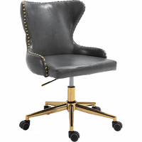 Meridian Furniture Hendrix Faux Leather Office Chair Grey
