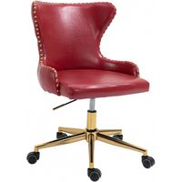 Meridian Furniture Hendrix Faux Leather Office Chair Red