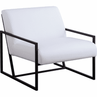 Meridian Furniture Industry Faux Leather Accent Chair White