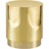 Meridian Furniture Jazzy Gold Stainless Steel Drum End Table