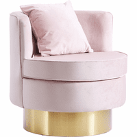 Meridian Furniture Kendra Velvet Accent Chair Pink