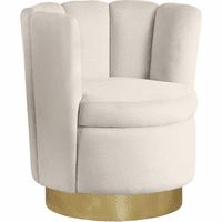 Meridian Furniture Lily Velvet Accent Chair Cream