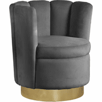 Meridian Furniture Lily Velvet Accent Chair Grey