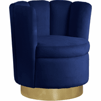 Meridian Furniture Lily Velvet Accent Chair Navy