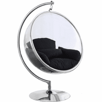 Meridian Furniture Luna Acrylic Swing Bubble Accent Chair Black