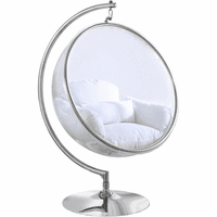 Meridian Furniture Luna Acrylic Swing Bubble Accent Chair White