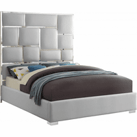 Meridian Furniture Milan Faux Leather Queen Bed White