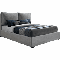Meridian Furniture Misha Polyester Fabric Full Bed Grey