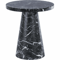 """Meridian Furniture Omni 20"""" End Table Black Faux Marble"""