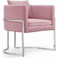 Meridian Furniture Pippa Velvet Accent Chair Pink