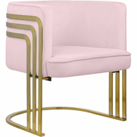 Meridian Furniture Rays Velvet Accent Chair Pink