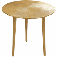 Meridian Furniture Rohan End Table Rich Gold Textured Metal