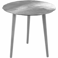 Meridian Furniture Rohan End Table Rich Silver Textured Metal