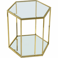 Meridian Furniture Sei Brushed Gold End Table