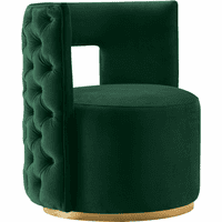 Meridian Furniture Theo Velvet Accent Chair Green