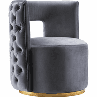Meridian Furniture Theo Velvet Accent Chair Grey