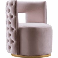 Meridian Furniture Theo Velvet Accent Chair Pink