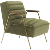 Meridian Furniture Woodford Velvet Accent Chair Olive