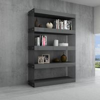 J & M Furniture Cloud Curio Unit in Grey High Gloss