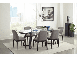 Modern Glass Expandable Dining Table & 4 Chairs