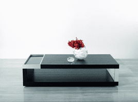 Modrest Gemstone - Modern Black Oak Coffee Table