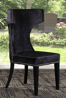 Modrest Alto - Modern Black Fabric Dining Chair