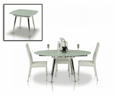 Modrest Brunch Modern White Extendable Dining Table