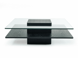 Modrest Emulsion - Modern Oak Glass Coffee Table