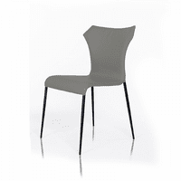 Mercer - Modern Grey Leatherette Dining Chair (Set of 2)