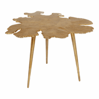 Moe's Home Furniture Amoeba Side Table Gold