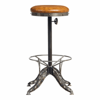 Moe's Home Furniture Baxter Barstool Light Brown