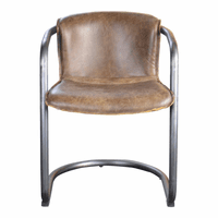 Moe's Home Furniture Benedict Dining Chair Light Brown-m2