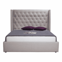 Moe's Home Furniture Blair 2-drawer Bed King Cappuccino Fabric