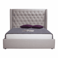 Moe's Home Furniture Blair 2-drawer Bed Queen Cappuccino Fabric